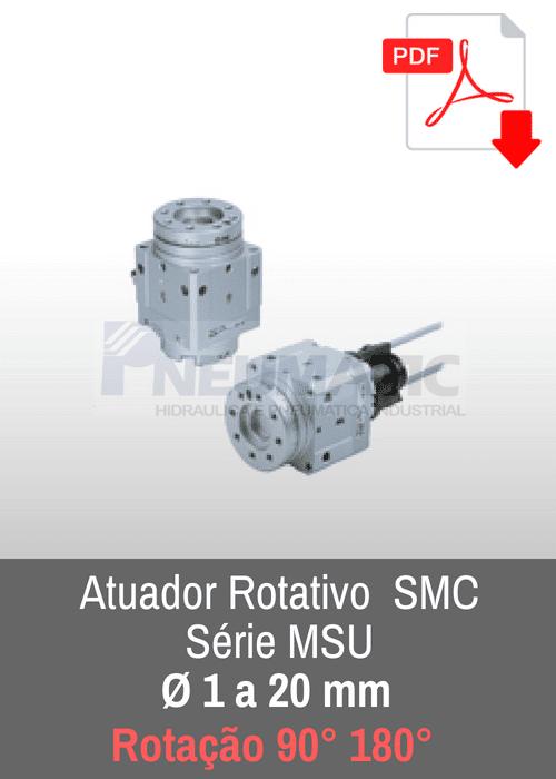 Atuador rotativo SMC MSU